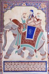 A fresco in a Haveli in Fatehpur, Shekhawati