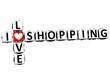 3D I Love Shopping Crossword