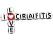 3D I Love Crafts Crossword