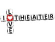3D I Love Theater Crossword