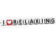 3D I Love Relaxing Button Click Here Block Text