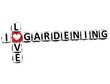3D I Love Gardening Crossword