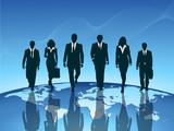 business team blue