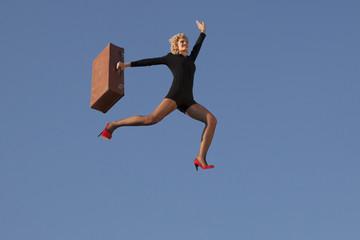 Girl  running, outdoor
