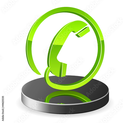 3D Telefon Icon - green lemon