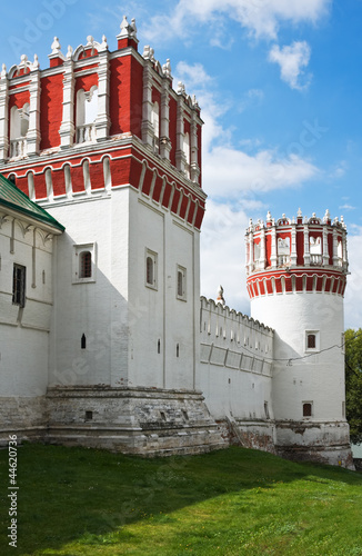 towers and walls of Novodevichy Convent, Moscow