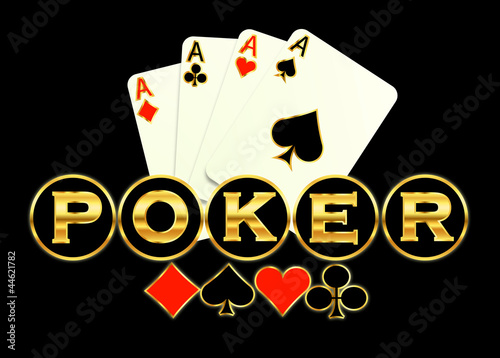Poker game logo illustration abstract background