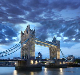 London with Tower Bridge in the evening, UK