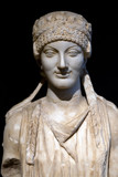 Herm of a Caryatid. Pentelic marble poster