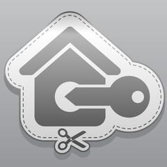 house sticker icon