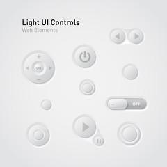 Light UI Controls Web Elements: Buttons, Switchers,
