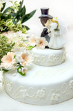 close up of a wedding cake