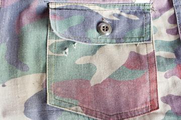 camouflage pants pocket old