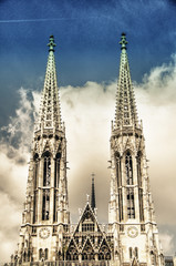 Votive Church twin towers in Vienna