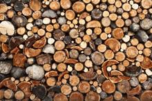 Pile de bois de chauffage coupé