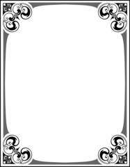 Elegant decorative frame.