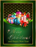 Merry Christmas and Happy New Year Elegant Background