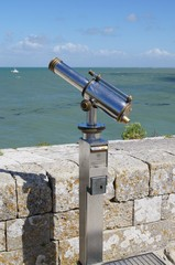 Telescope with view towards the sea