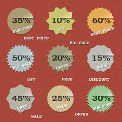 9 paper sale labels