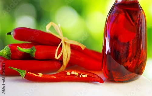 Red chili and rose wine
