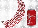 Cola drink with dotted background