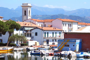 Versilia,Viareggio view of old port and docks