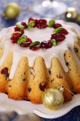 Traditional Christmas fruit cake.