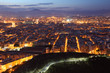 Aerial view of Alicante at dusk. Catalonia, Spain