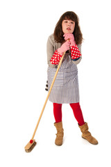 Housewife with scrobbing tool