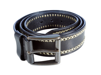 Brown lather belt