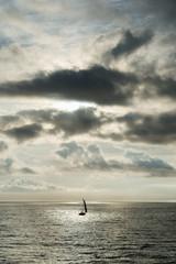 Sailing at the sea