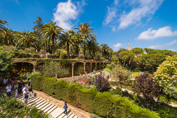 The famous Park Guell