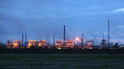 Phosphoric factory in light of lanterns stand