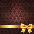 Dark Red Damask Background