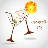 Fototapety cocktail glasses