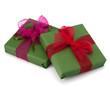 festive gift box stack
