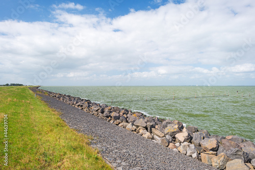 Dike protecting land against water - 44639704