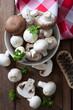 Pilze schneiden