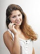 Portrait of a confident young female customer service agent with