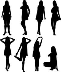 dress women silhouettes