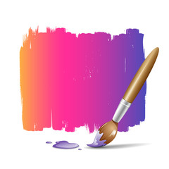 Paint brush vector colorful background