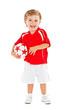 Kleiner Fussball Junge