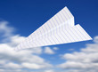 origami planes in blue sky