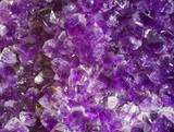 Amethyst crystals close-up. Druze within a very large geode.