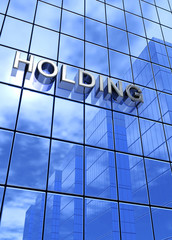 Blue Business Concept - Holding