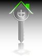 house key real estate business vector illustration
