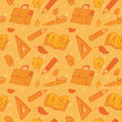 School seamless pattern, vector illustration
