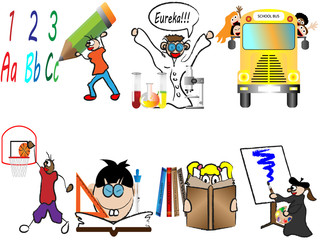 back to school children vector illustration