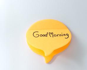 good morning on conversation paper design