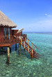 Water bungalow on maldives tropical island